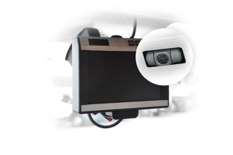 Rear camera with LCD
