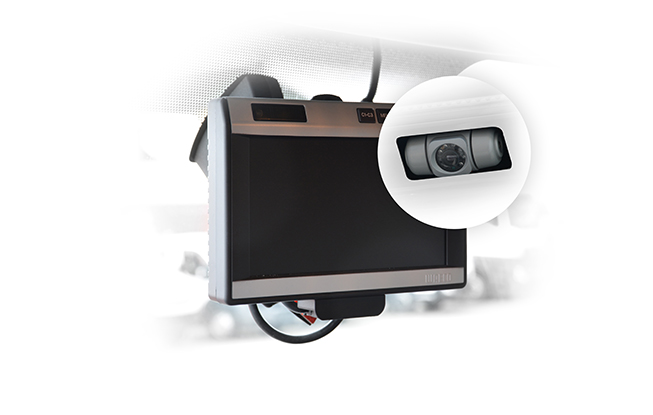 Reverse camera with LCD